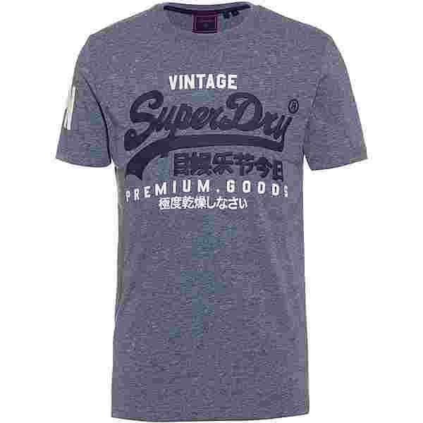 Superdry T-Shirt Herren tois blue heather
