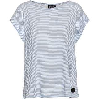 WLD Wine of Love T-Shirt Damen light blue stripes