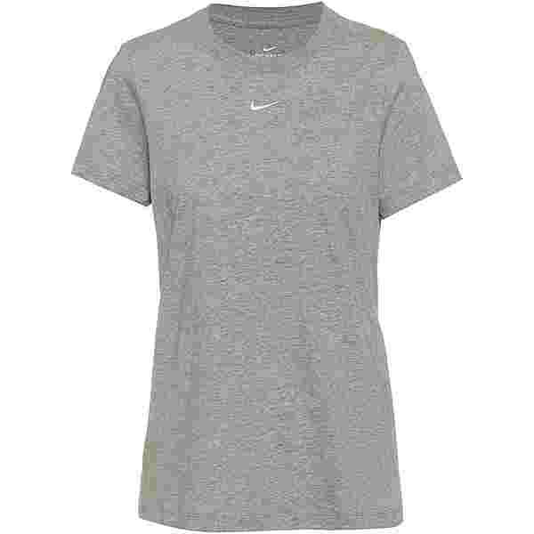 Nike NSW Essential T-Shirt Damen dark grey heather-white