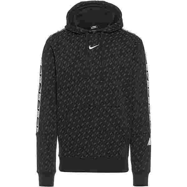 Nike NSW Repeat Hoodie Herren black-white