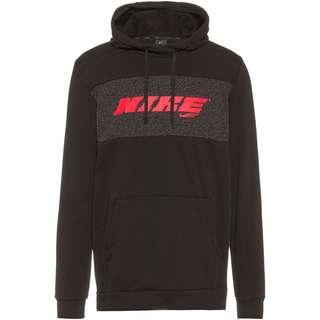 Nike PRO Hoodie Herren black-bright crimson