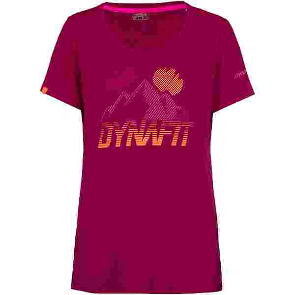 Dynafit Transalper Graphic Funktionsshirt Damen beet red