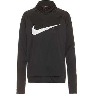 Nike Swoosh Funktionsshirt Damen black-white