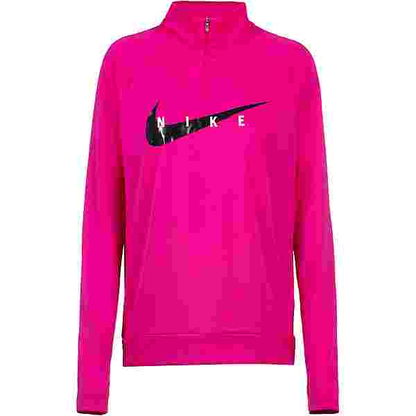 Nike Swoosh Funktionsshirt Damen fireberry-black