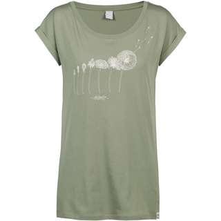 iriedaily Evolution T-Shirt Damen light olive