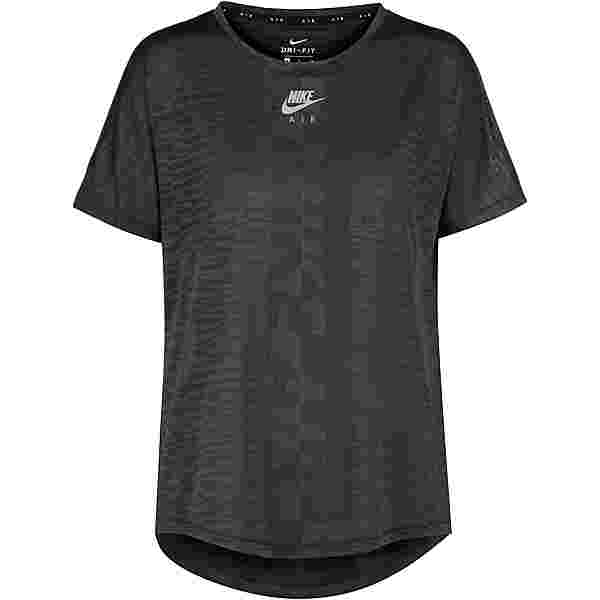 Nike Air Funktionsshirt Damen black-dk smoke grey-reflective silv