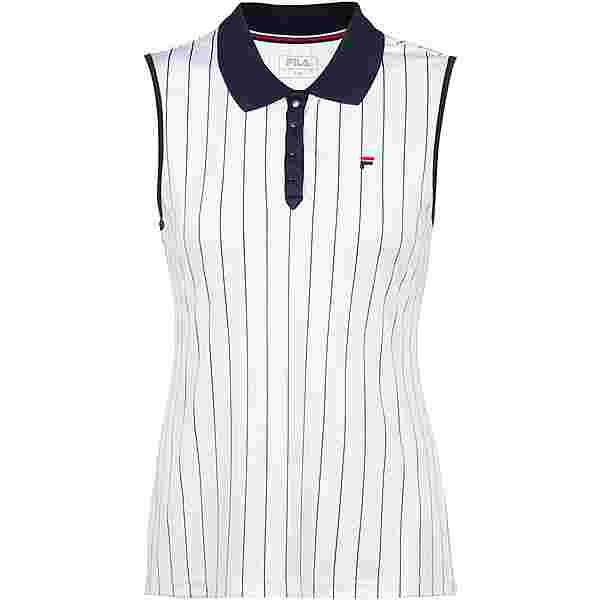 FILA Pia Tennis Polo Damen white-stripes