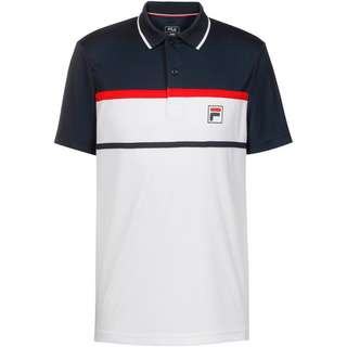 FILA Anton Tennis Polo Herren white-peacoat blue