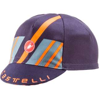 castelli HORS CATEGORIE CAP Cap Herren savile blue-light steel-brillant orange