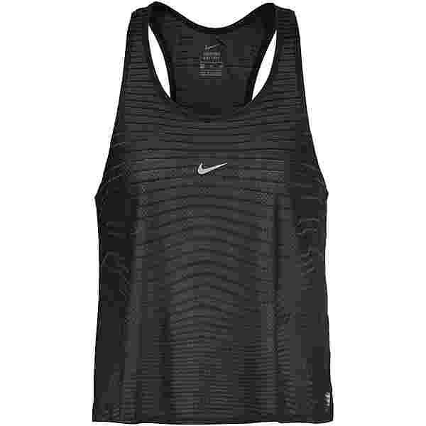 Nike PRO Funktionstank Damen black-dk smoke grey-metallic silver