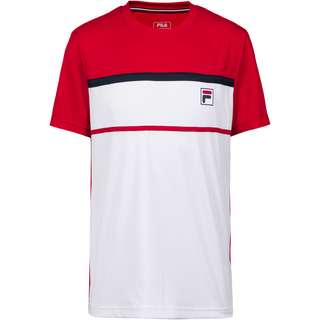FILA Steve T-Shirt Herren white-fila red