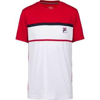 FILA Steve T-Shirt Herren white-fila red
