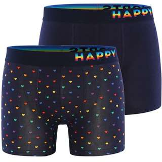 HAPPY SHORTS Trunks #2 Boxer Herren Navy/Multi