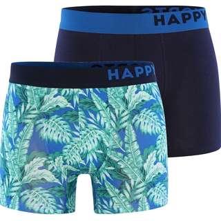 HAPPY SHORTS Trunks #2 Boxer Herren Hellblau/Navy