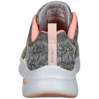 Skechers Arch Fit Comfy Wave Fitnessschuhe Damen grau / korall