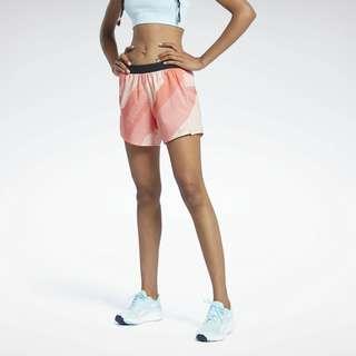 Reebok Run Essentials Allover Print Shorts Funktionsshorts Damen Rot
