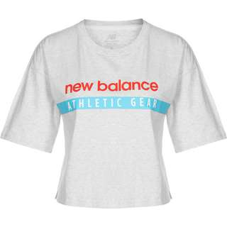 NEW BALANCE Essentials Field Day Boxy T-Shirt Damen grau