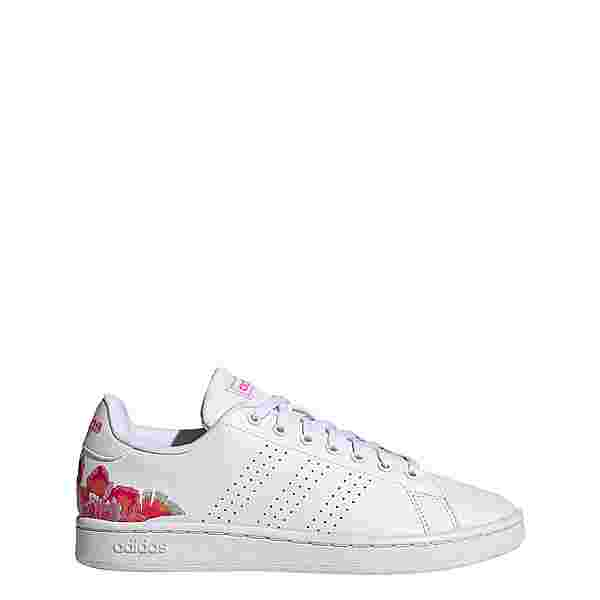 adidas Advantage Schuh Sneaker Damen Cloud White / Cloud White / Screaming Pink