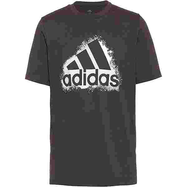 adidas Essentials T-Shirt Herren dgh solid grey-white