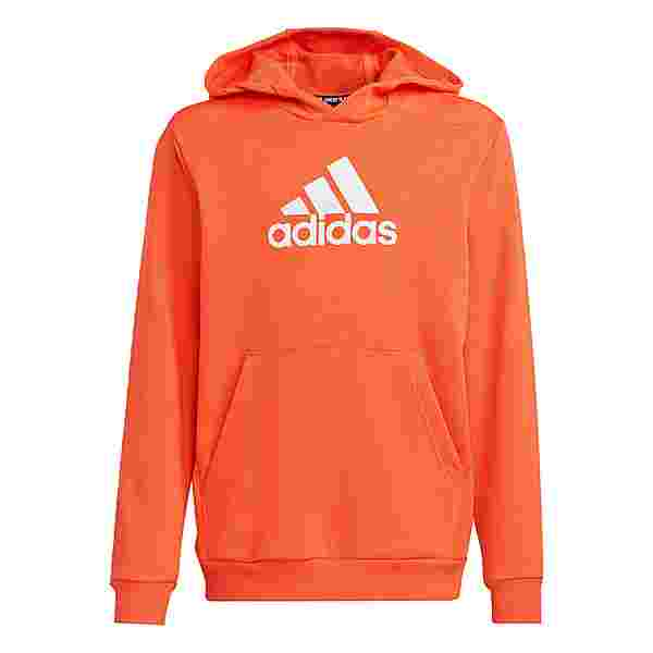 adidas Logo Hoodie Hoodie Kinder True Orange / White