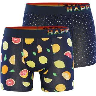 HAPPY SHORTS Trunks #2 Boxer Herren Navy/Bunt