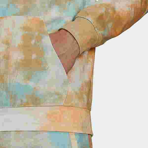 adidas Essentials Tie-Dyed Inspirational Hoodie Hoodie Herren Hazy Orange / Hazy Sky / White