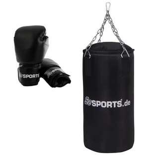 ScSPORTS Boxset mit Boxhandschuhen Boxsack Schwarz
