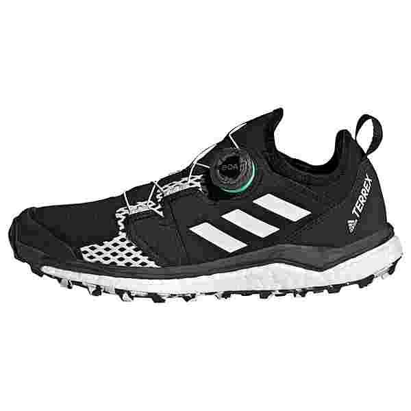 adidas TERREX Agravic Boa Trailrunning-Schuh Laufschuhe Damen Core Black / Cloud White / Acid Mint