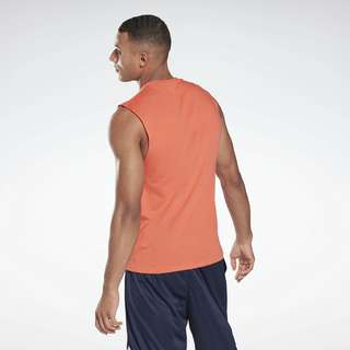 Reebok Workout Ready Mesh Sleeveless T-Shirt Tanktop Herren Orange
