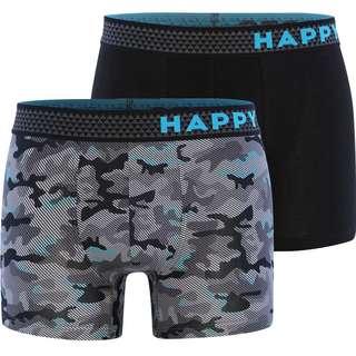 HAPPY SHORTS Trunks #2 Boxer Herren Grau/Schwarz
