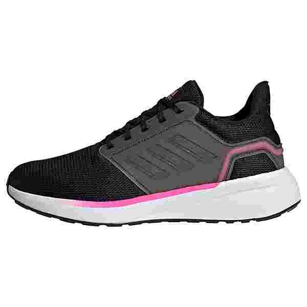 adidas EQ19 Run Laufschuh Laufschuhe Damen Core Black / Iron Metallic / Screaming Pink