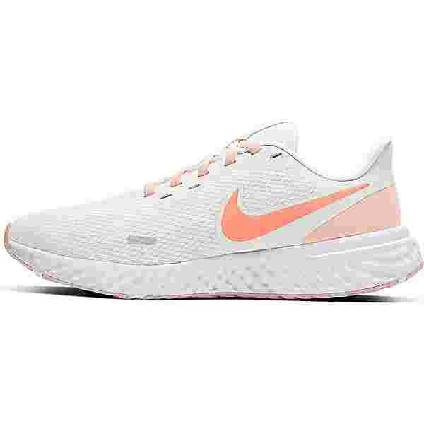Nike Revolution 5 Laufschuhe Damen summit white-crimson bliss-orange pearl