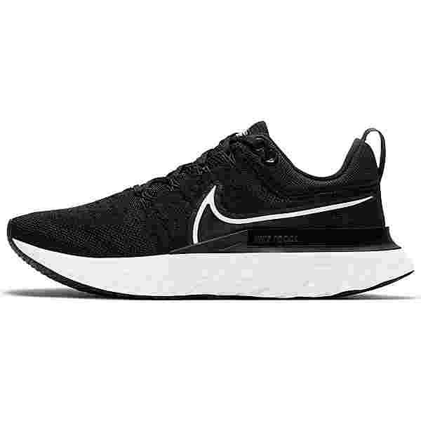 Nike React Infinity Run Flyknit 2 Laufschuhe Damen black-white-iron grey