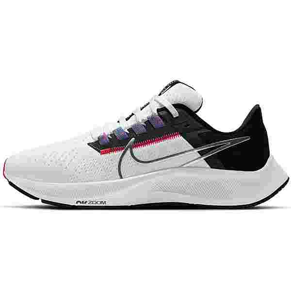 Nike Air Zoom Pegasus 38 Laufschuhe Damen white-metallic silver-black