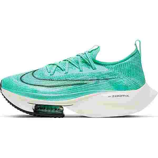 Nike Air Zoom Alphafly Next% Laufschuhe Damen hyper turq-white-black-oracle aqua