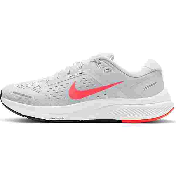 Nike Air Zoom Structure 23 Laufschuhe Damen pure platinum-flash crimson