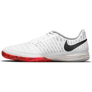 Nike Lunar Gato II IC Fußballschuhe white-black-bright crimson-grey fog