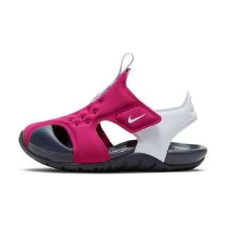 Nike SUNRAY PROTECT 2 Badelatschen Kinder fireberry-football grey-thunder blue