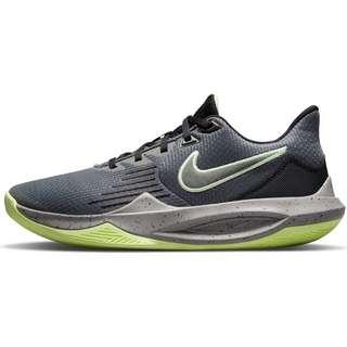 Nike Precision V Basketballschuhe Herren iron grey-dust-black-barely volt