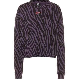 Nike NSW Sweatshirt Damen dark raisin-bright mango