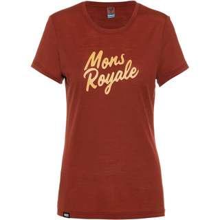 Mons Royale Merino Icon Funktionsshirt Damen Chocolate