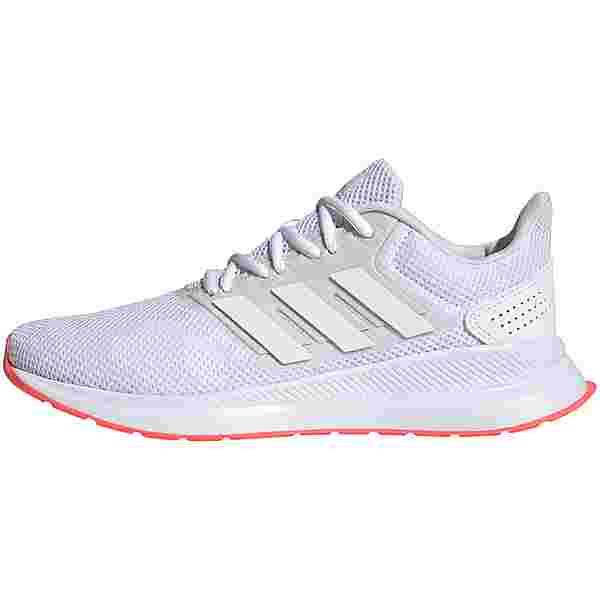 adidas RUNFALCON Laufschuhe Damen ftwr white-ftwr white-signal pink