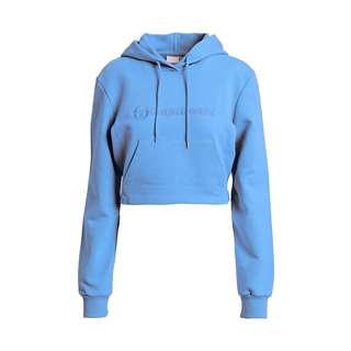 SERGIO TACCHINI ALINA cropped Hoodie Strickpullover Damen azure blue