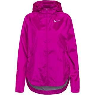 Nike Essential Run Division Laufjacke Damen red plum-reflective silv