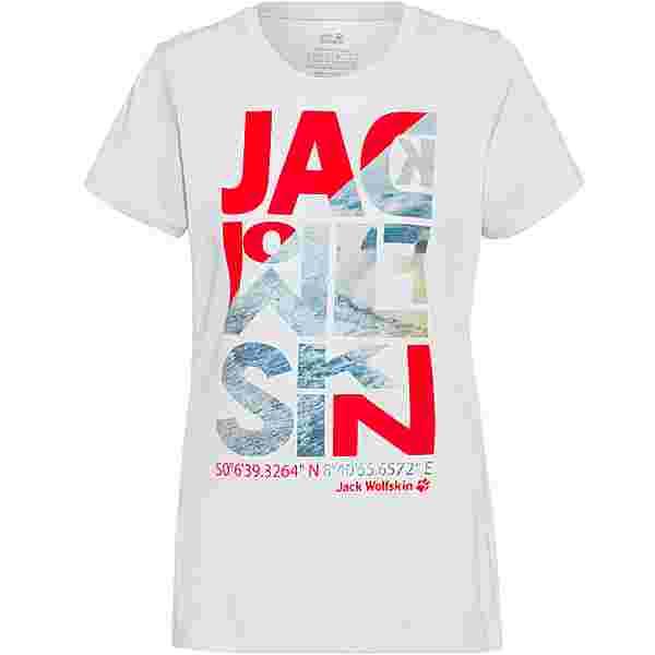 Jack Wolfskin NAVIGATION T-Shirt Damen white cloud