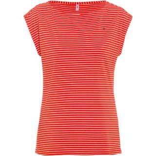 Blutsgeschwister T-Shirt Damen red tiny stripe