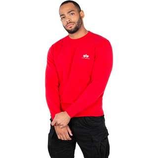 Alpha Industries Basic Small Logo Sweatshirt Herren rot