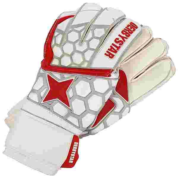 Derbystar APS White Red Star II Torwarthandschuhe weiß / rot
