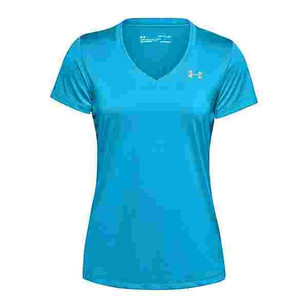 Under Armour Tech V-Neck T-Shirt Damen Laufshirt Damen blau