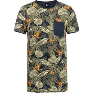 WLD Chainsmokes T-Shirt Herren navy fullprint